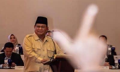 Saat Prabowo Pidato Lupa Data